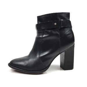 Madewell Sammie Black Leather Bootie Boots